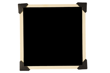 Old Square Photo Frame With Black Corners