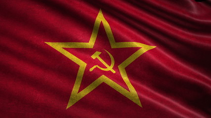 USSR flag. Loop.