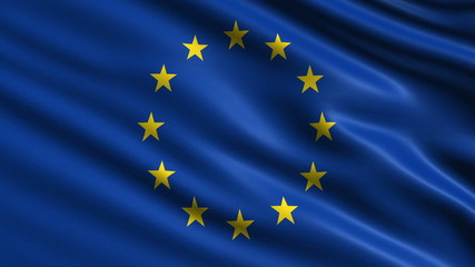 European Union flag. Loop.