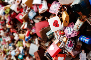 Thousands of love padlocks at Seoul Tower