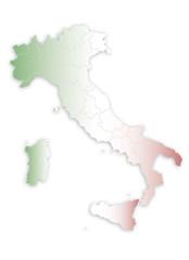 penisola italiana con bandiera