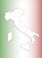 cartografia italia con bandiera