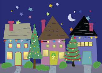 Homes at Christmas time