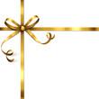 Goldene Schleife mit Kringel
