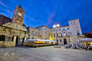 People's square in Zadar night view