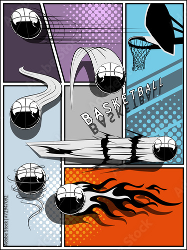 zestaw-koszykowki-komiks-stylu