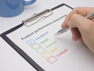 Product performance assessment - excellent
