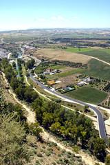 Vista aerea de carretera rural
