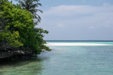 Meer, Strand und Palmen