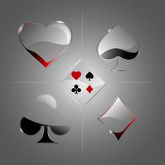 Transparent deck of cards