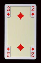 Spielkarten der Ladys - Karo Zwei
