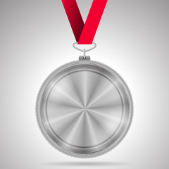 Illustration of silver medal