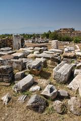 Pamukkale. Turkey. Ruins of Hierapolis
