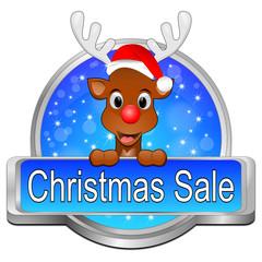 Christmas Sale Button mit Rentier
