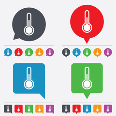 Thermometer sign icon. Temperature symbol.