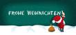 Weihnachtsmann schreibt Frohe Weihnachten