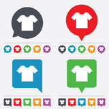 Fototapety T-shirt sign icon. Clothes symbol.