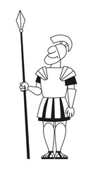 Ancient pikeman with a spear