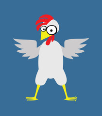 Big chicken with a red crest