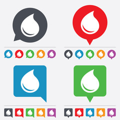 Water drop sign icon. Tear symbol.