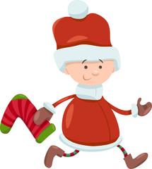 kid santa claus christmas cartoon