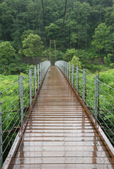 Bridge over Hime river in Hakuba, Nagano prefecture, Japan