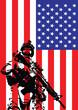 Vector illustration of US marine
