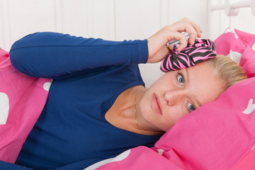 Teen girl with headache