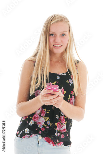 canvas print picture Teenager with smartphone
