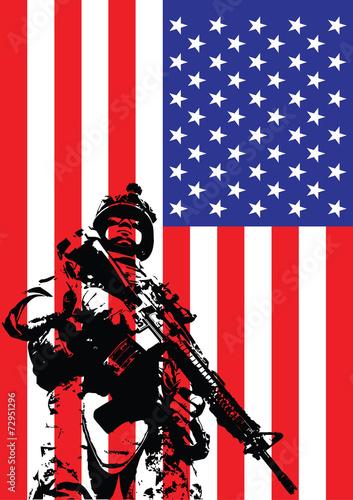 Vector illustration of US marine - 72951296