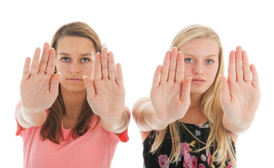 Girls saying no