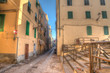 Colorful backstreet in Alghero old town