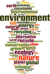 Environment word cloud concept. Vector illustration