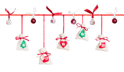 4/5 - part of Advent calendar isolated on white background
