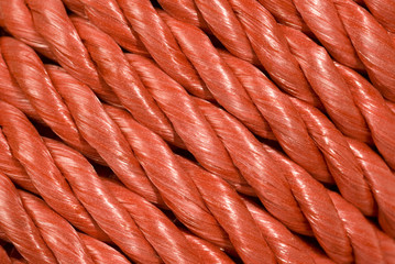 Red Rope Background Running Diagonally