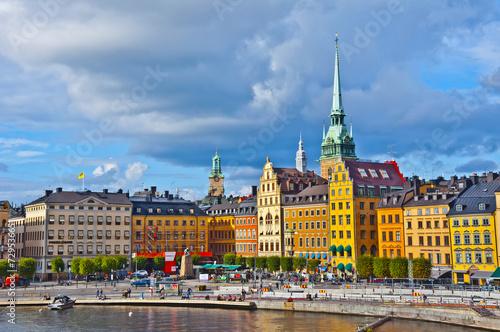 Staande foto Scandinavië Gamla Stan View, Stockholm, Sweden