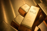 Gold Bars. Clipping Path Included.
