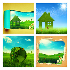 Set of assorted environmental backgrounds for your design