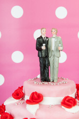 Wedding cake with gay couple