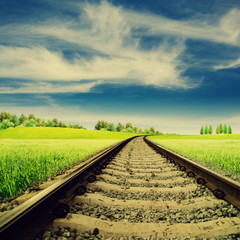 Railroad. Abstract rural landscape for your design