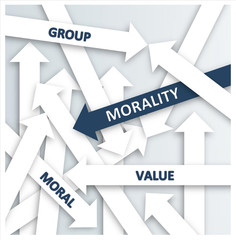 Simple Blue and White Morality Concept