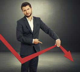sad broker holding graph