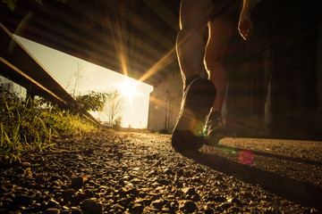 Trail running, corsa al tramonto