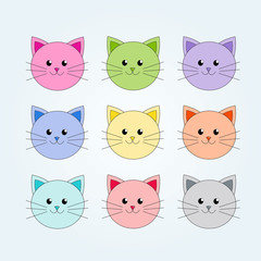 Colorful Cute cats