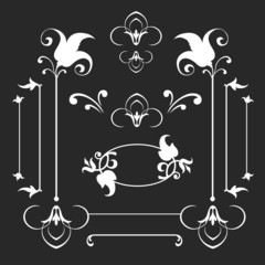 Calligraphic elements set