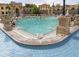 Relax in the outdoor pool The Szechenyi