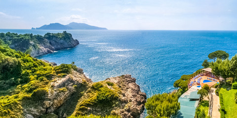 Blick auf Capri, Amalfiküste
