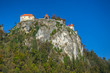 Bled castle in sunny autumn afternoon