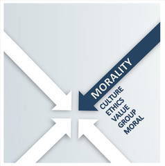 Blue and White Arrows for Morality Concept Design