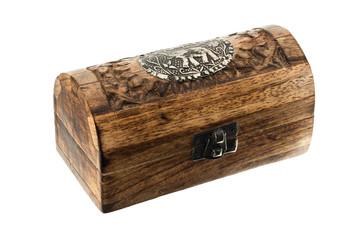 Wooden chest locked